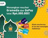 Dapatkan Total Rp4.000.000 dan E-Voucher Gramedia!