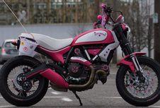 Ide Gila Scrambler Ducati Berdandan Hello Kitty