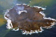 Sebuah Pulau Baru Terbentuk akibat Erupsi Gunung Api