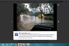 Depan Gandaria City Banjir, Pondok Indah Macet Parah
