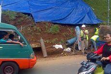 Tembok Penahan Tebing di Dago Bandung Ambrol