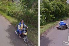 Di Jawa Timur, Kamera Google Rekam Seorang Ibu Jatuh dari Motor