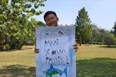 Apin, Bocah 7 Tahun yang Getol Kampanye Lawan Sedotan Plastik