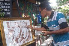 Saat Pertemuan Jokowi dan Prabowo Diabadikan dalam Lukisan Seharga Rp 10 Juta...