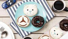Cicipi Lucunya Donat Terbaru Kolaborasi Krispy Kreme dan Mercedes-Benz