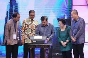 Wakil Presiden Jusuf Kalla Meresmikan Menara Kompas