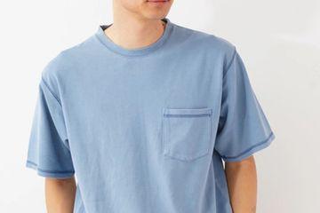 Three punch needle stitch pigment T-shirt /koe