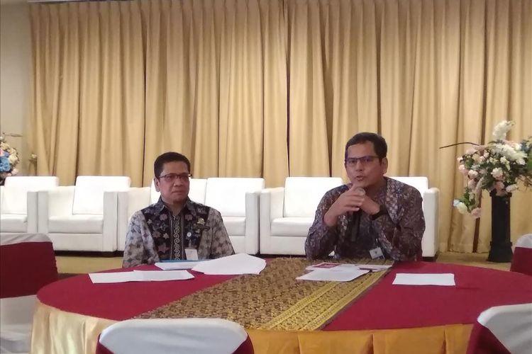 Direktur Jendral Perkeretaapian Kemenhub Zulfikri, saat memaparkan persiapan angkutan lebaran KA di Jakarta, Jumat (24/5/2019)
