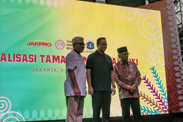 groundbreaking revitalisasi Taman Ismail Marzuki pada Rabu (3/7/2019)