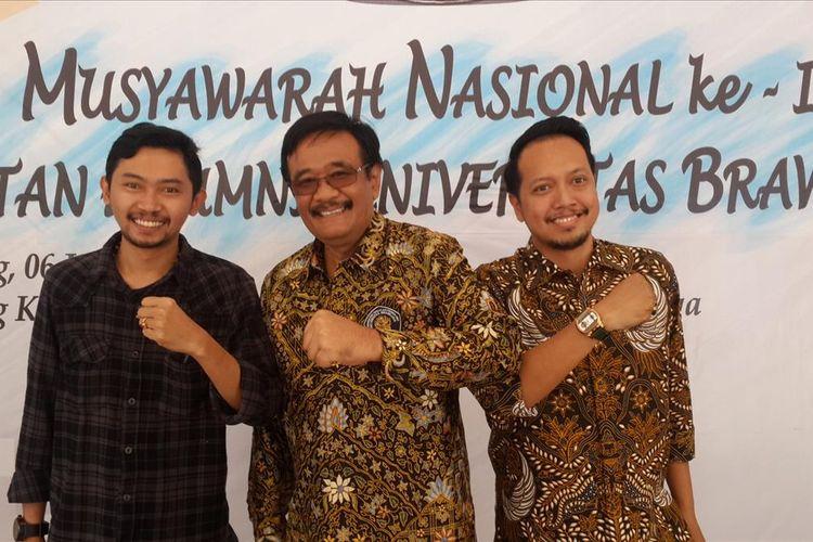 Politisi PDI-P, Djarot Saiful Hidayat di sela Munas ke-IX Ikatan Alumni Universitas Brawijaya di Kampus Universitas Brawijaya, Kota Malang, Sabtu (6/7/2019).