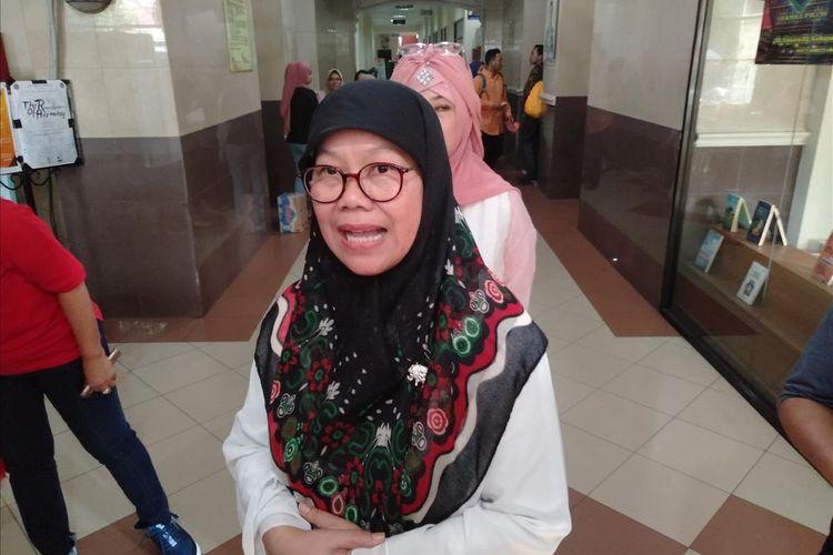 Wakil Rektor 3 Bidang Kemahasiswaan Universitas Muhammadiyah Prof Dr Hamka (Uhamka) Leli Qodariah saat ditemui di kampus Uhamka, Jumat (11/7/2019)