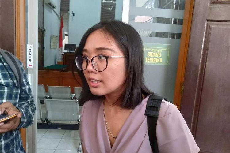 Pengacara LBH Oky Wirata Siagian di Pengadilan Negeri Jakarta Selatan, Rabu (17/7/2019).