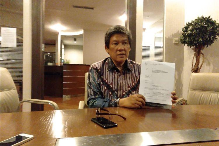 Kuasa hukum korban pencabulan oknum guru JIS, Tommy Sihotang, Jumat (18/7/2019)