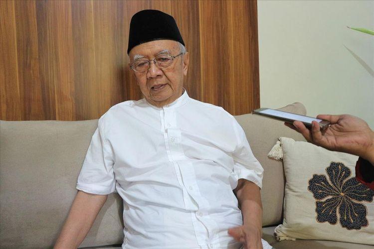 KH. Salahuddin Wahid, saat ditemui di Pesantren Tebuireng Jombang Jawa Timur, Selasa (23/7/2019).