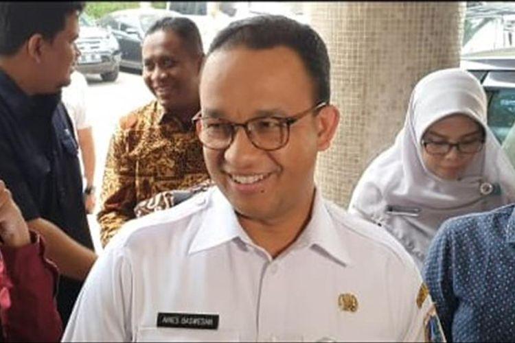Gubernur DKI Jakarta Anies Baswedan di Kantor DPP Partai Nasdem, Jakarta Pusat, Rabu (24/7/2019)