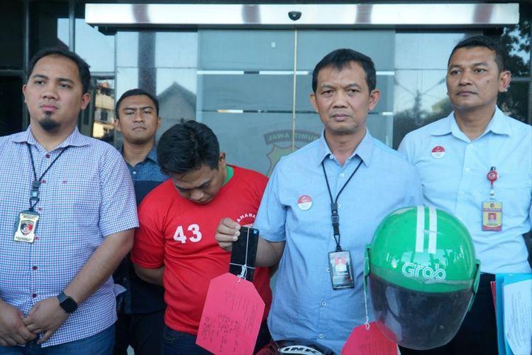 Driver Ojol yang lakukan pelecehan kepada penumpangnya diamankan polisi di Surabaya