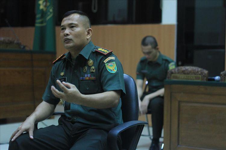 Dandenkessyah 02.04.04 Palembang ketika menjadi saksi ahli kejiwaan Prada DP terkait kasus mutilasi dan pembunuhan pacarnya Fera Oktaria (21), Selasa (13/8/2019).