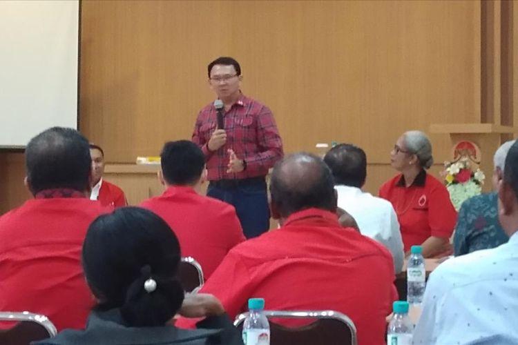 Ahok saat berdialog dengan tokoh agama dan akademisi di Kota Kupang, NTT, Selasa (13/8/2019)