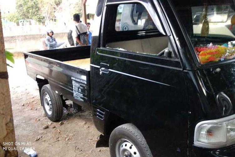 Mobil pick up yang diduga menabrak rombongan anak-anak di pawai karnaval HUT RI diamankan.