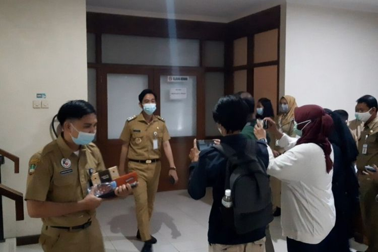 Wali Kota Solo Gibran Rakabuming Raka di Solo, Jawa Tengah, Senin (8/3/2021).