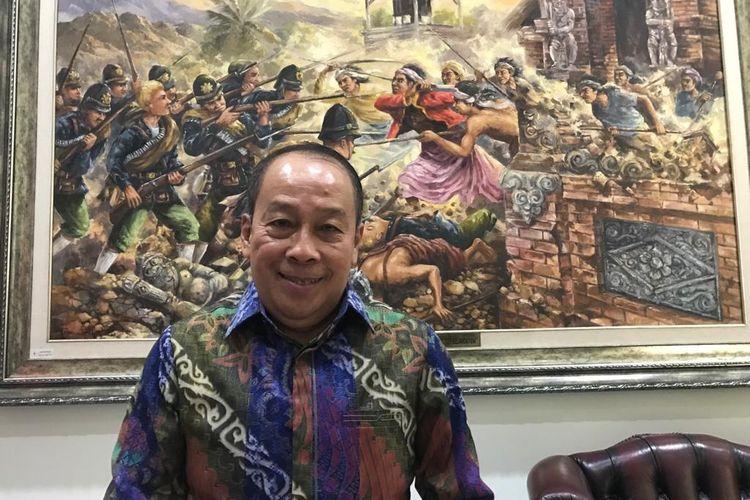 Gubernur Lemhanas Letjen (Purn) Agus Widjojo saat ditemui di kantornya, di Jakarta, Jumat (10/9/2021)
