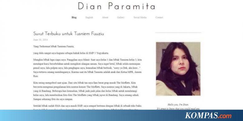 Lagi, Balasan Surat Terbuka untuk Putri Amien Rais soal Jokowi