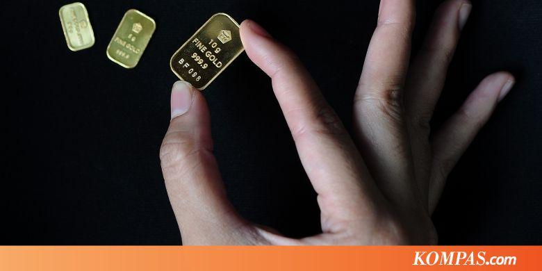 Harga Emas Antam Turun Rp 1000 Kompascom