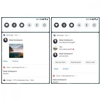 Smart reply di notifikasi Android Pie(Google)