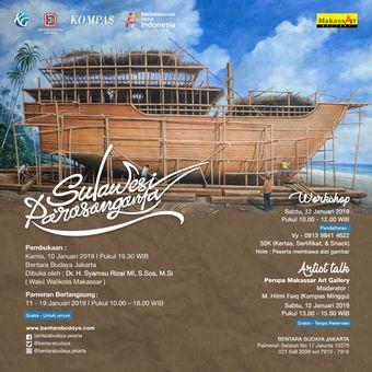 Pameran lukisan Sulawesi Parasanganta di BBJ 11-19 Januari pukul 10.00 ? 18.00 WIB.
