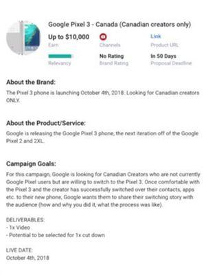 Bocoran tanggal peluncuran Google Pixel 3 di iklan yang tayang di situs Famebit