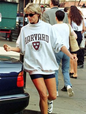 Forget going to Harvard. Wearing bike shorts and a Harvard sweatshirt with the sleeves perfectly bunched is just the right kind of elitist mystique.
