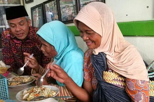 Ketika Ganjar Ajak Pengemis Makan Siang dan Selawat Bersama