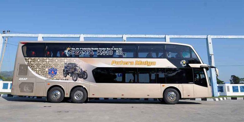 Bus tingkat baru dari PT Putera Mulya Sejahtera, melayani jurusan baru Bogor-Jakarta-Solo-Wonogiri