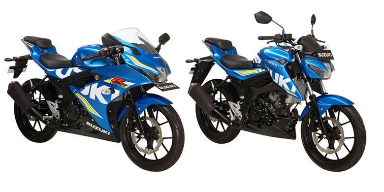 GSX-R 150 dan GSX-S 150 warna metallic triton blue.