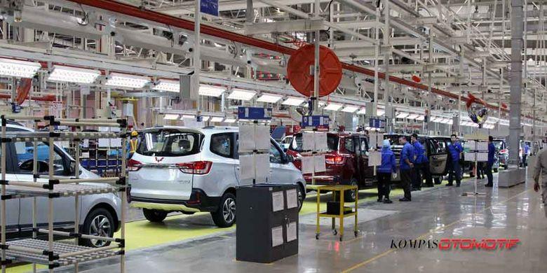Pabrik perakitan SGMW Motor Indonesia (Wuling Indonesia) di Bekasi, Jawa Barat.