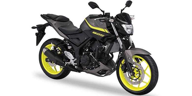 Yamaha MT 25 Dengan Kelir Matte Grey