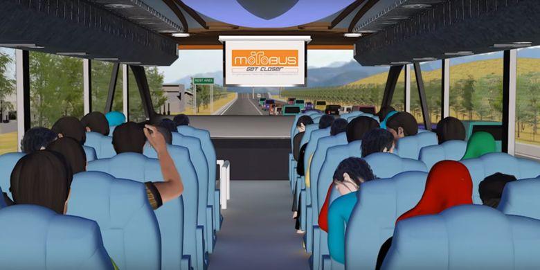 Motobus, bus tingkat yang bisa mengangkut penumpang bersama sepeda motor. Penumpang berada di lantai atas dan motor di lantai bawah.