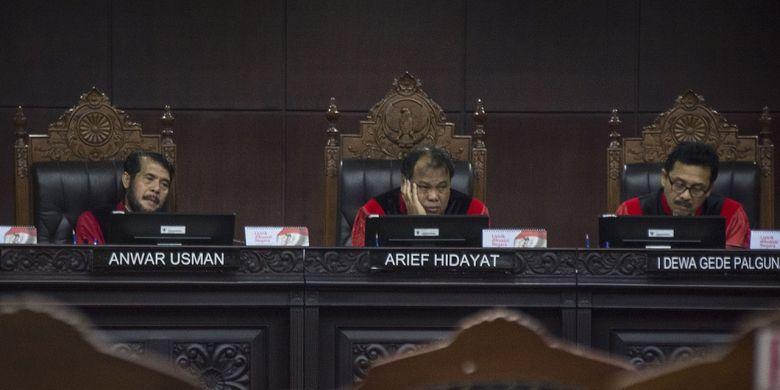 Ketua Majelis Hakim Mahkamah Konstitusi (MK) Arief Hidayat.