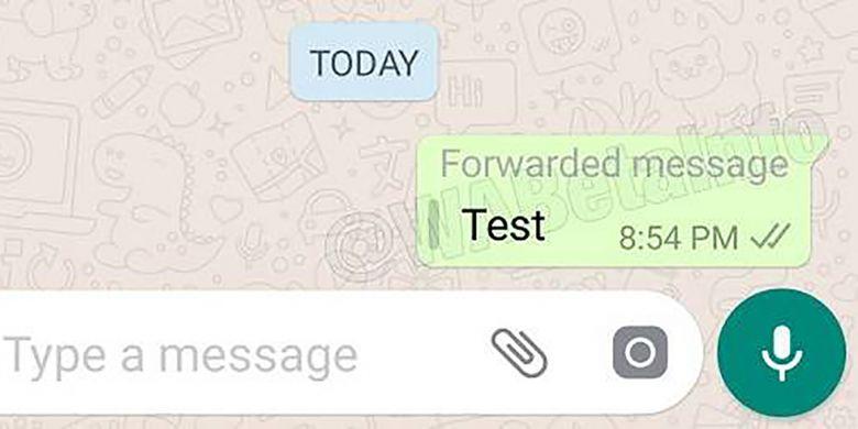 Screenshot fitur penanda pesan terusan di WhatsApp Android versi beta terbaru.