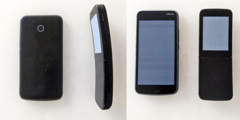 Prototype Nokia 1 dan Nokia 8110 4G yang dipamerkan Juho Sarvikas di Twitter.