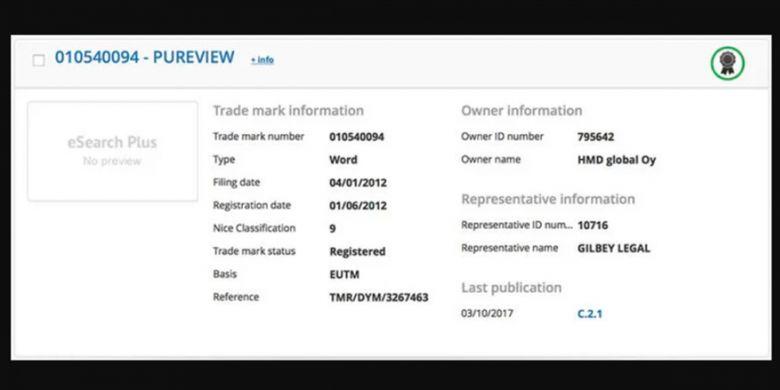 Merek dagang PureView telah resmi menjadi milik HMD Global.