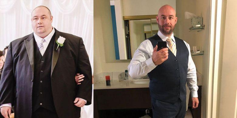 Stephen Ringo, pria yang berhasil menurunkan berat badan hingga sekitar 100kg.