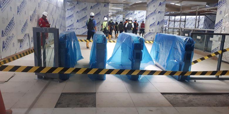 Pintu masuk Stasiun MRT Dukuh Atas, Jakarta Pusat. Foto diambil Kamis (29/11/2018).
