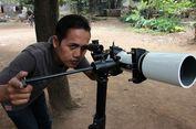 Pria Ini Bikin Teleskop dari Barang Bekas untuk Teropong Gerhana Bulan
