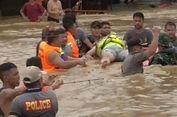 Tertimpa Tembok Saat Selamatkan Warga yang Terjebak Banjir, Seorang Polisi Kritis