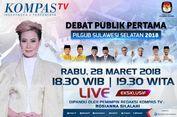Saksikan Debat Calon Pilkada Sulsel di KompasTV, Rabu Malam Ini