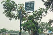 Percantik Tepi Cengkareng Drain, Pemkot Jakbar Pasang Tiang Bertuliskan Huruf Arab