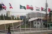 Bendera Peserta Asian Games yang Dipasang Pakai Bambu di Pluit Akan Diganti Lebih Baik