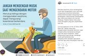 Bahaya Pakai Earphone Sambil Naik Motor, Bisa Terkenang Masa Lalu