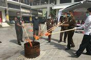 Kejari Denpasar Musnahkan Barang Bukti Kejahatan Narkotika Senilai Rp 2 Miliar